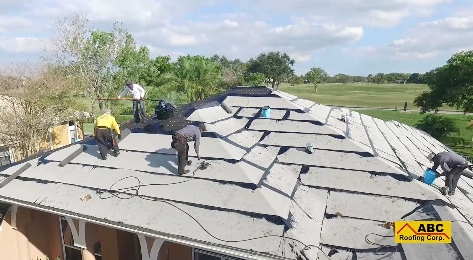 re-roofing process