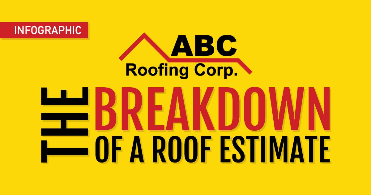 breakdown of a roof estimate