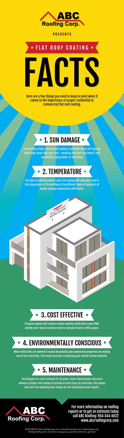 Flat Roof Coating Facts (Infographic)