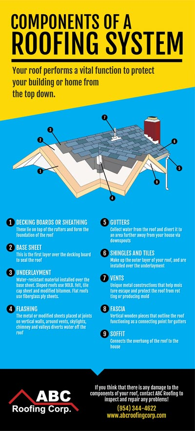 Components of a Roofing System (Infographic)