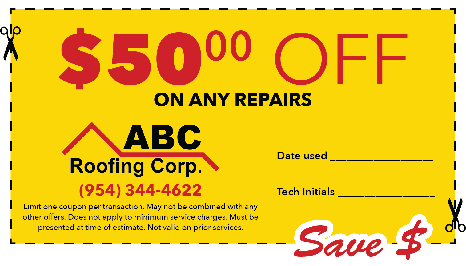 $50 off any repairs
