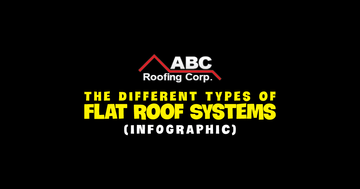 flat roof infographic
